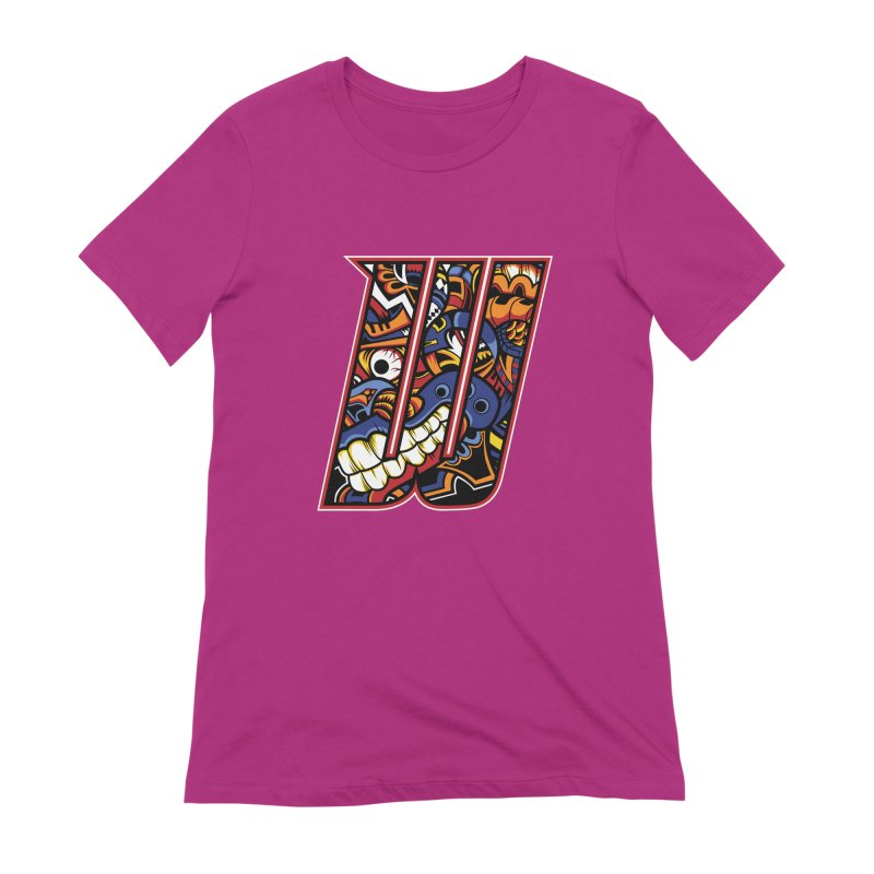 Crazy Face_W003 Women's Extra Soft T-Shirt by Art of Yaky Artist Shop