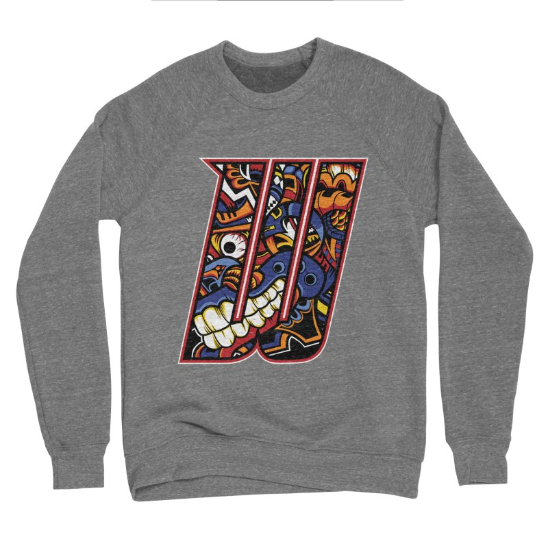 Crazy Face_W003 Men's Sponge Fleece Sweatshirt by Art of Yaky Artist Shop