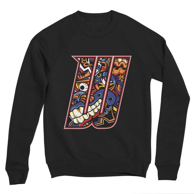 Crazy Face_W003 Men's Sponge Fleece Sweatshirt by Art of Yaky Artist Shop
