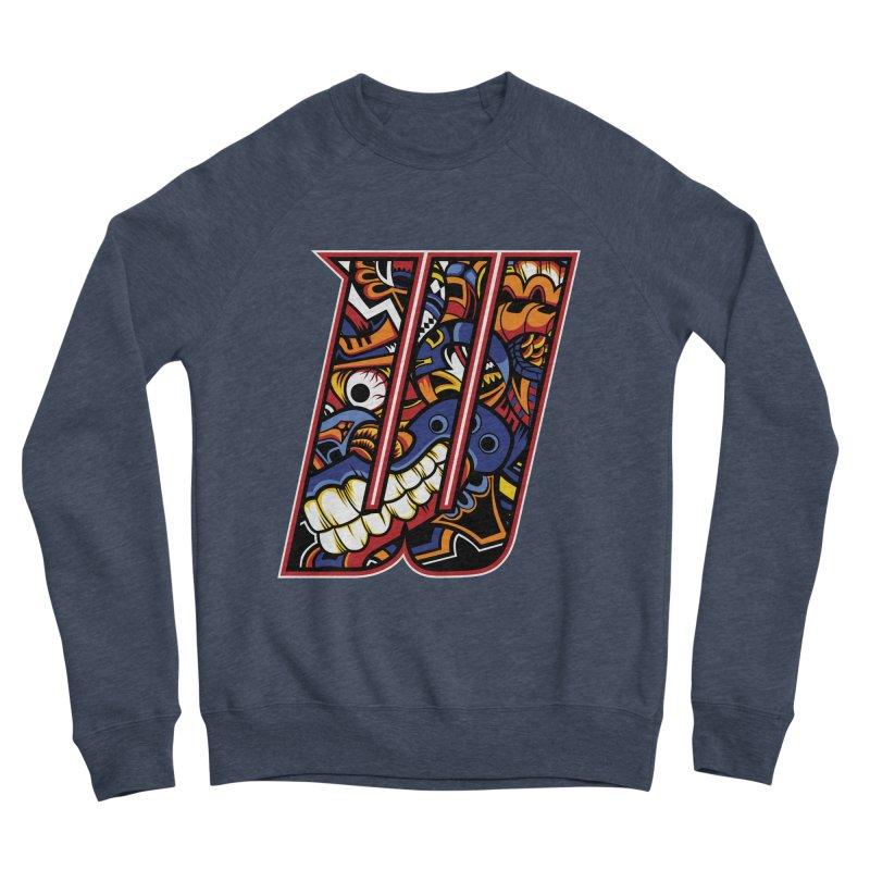 Crazy Face_W003 Women's Sponge Fleece Sweatshirt by Art of Yaky Artist Shop