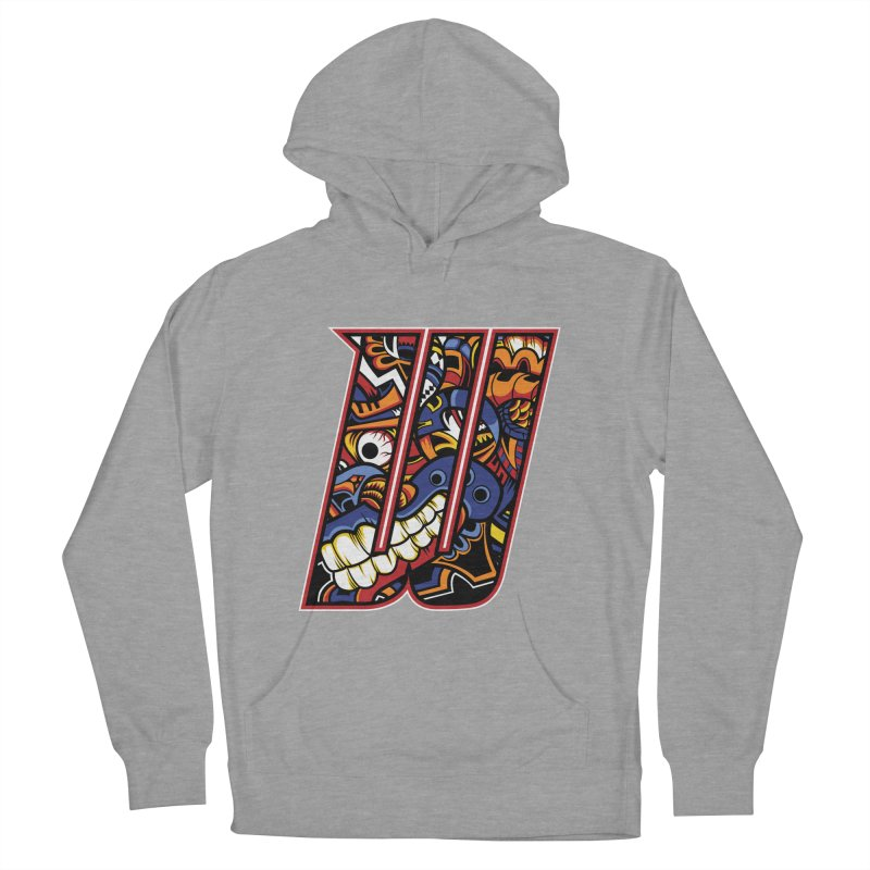 Crazy Face_W003 Women's Pullover Hoody by Art of Yaky Artist Shop