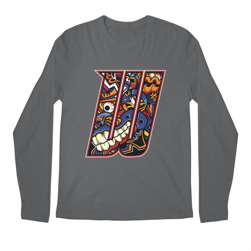 Crazy Face_W003 Men's Longsleeve T-Shirt by Art of Yaky Artist Shop