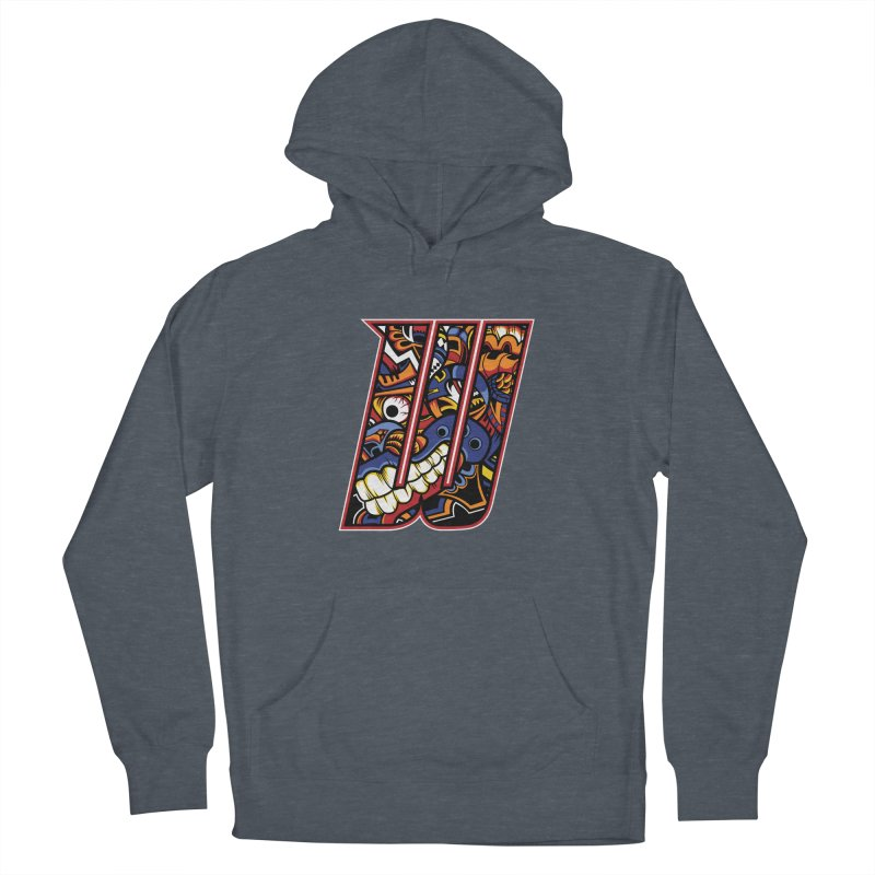 Crazy Face Alphabet (W) Men's Pullover Hoody by Yaky's Customs
