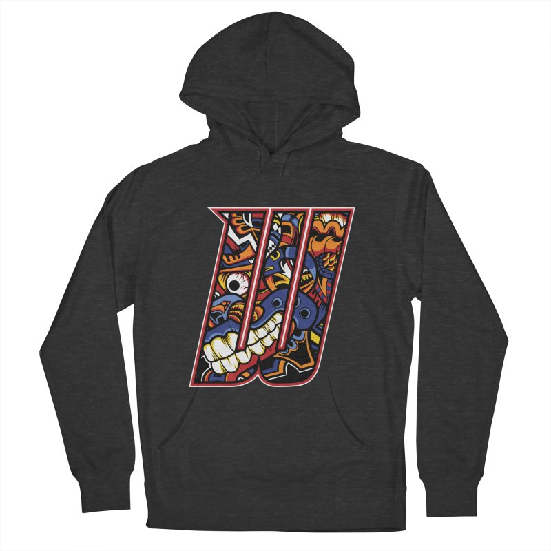 Crazy Face_W003 Men's French Terry Pullover Hoody by Art of Yaky Artist Shop