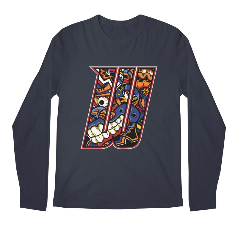 Crazy Face_W003 Men's Longsleeve T-Shirt by Art of Yaky Artist Shop