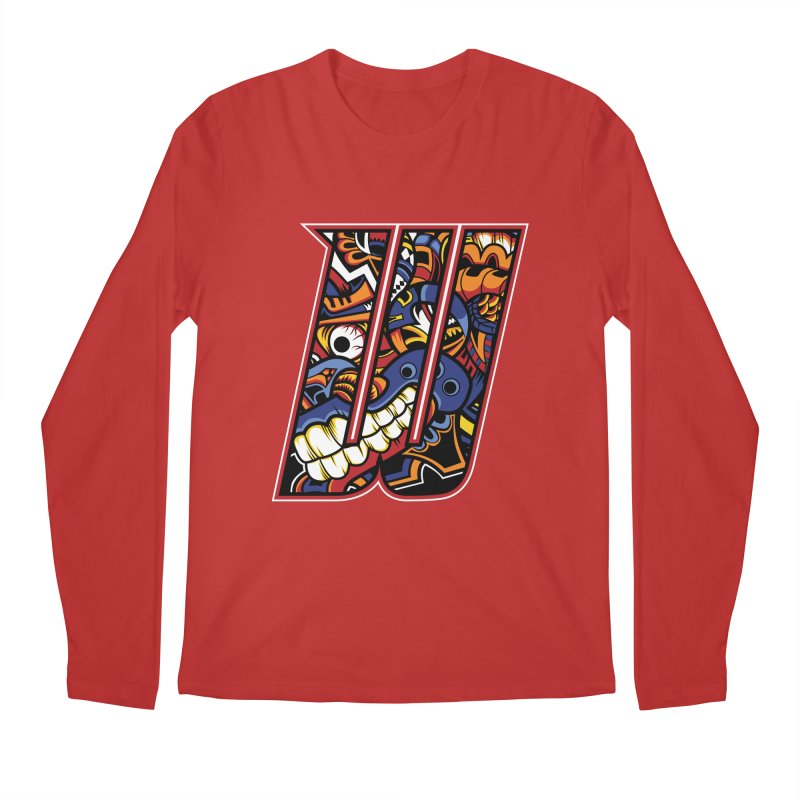 Crazy Face_W003 Men's Regular Longsleeve T-Shirt by Art of Yaky Artist Shop