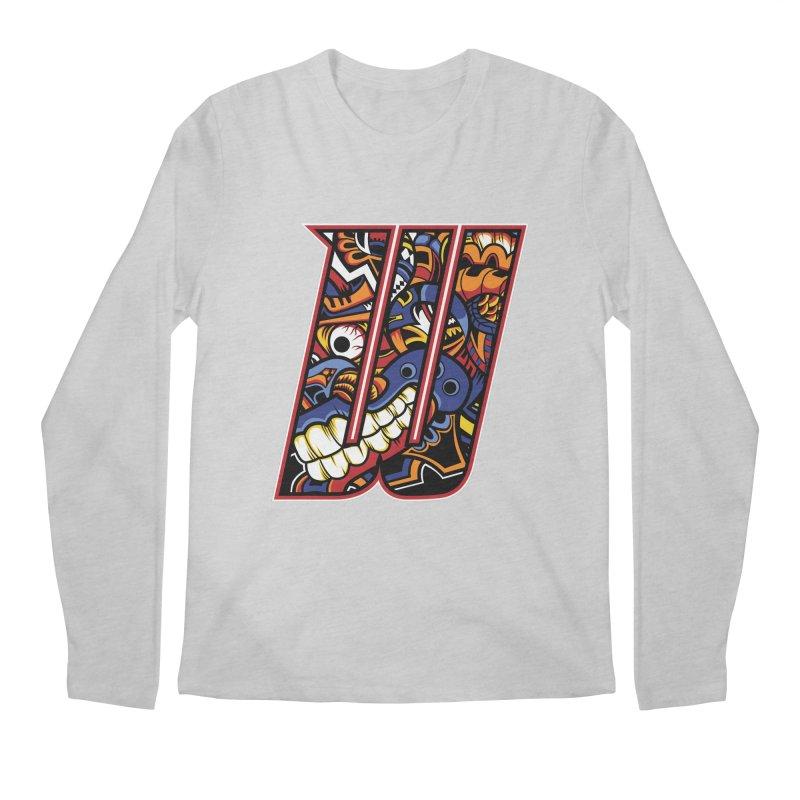Crazy Face_W003 Men's Regular Longsleeve T-Shirt by Art of Yaky Artist Shop