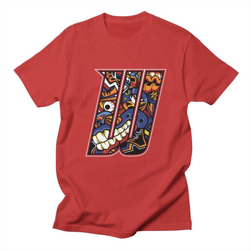 Crazy Face_W003 Men's Regular T-Shirt by Art of Yaky Artist Shop