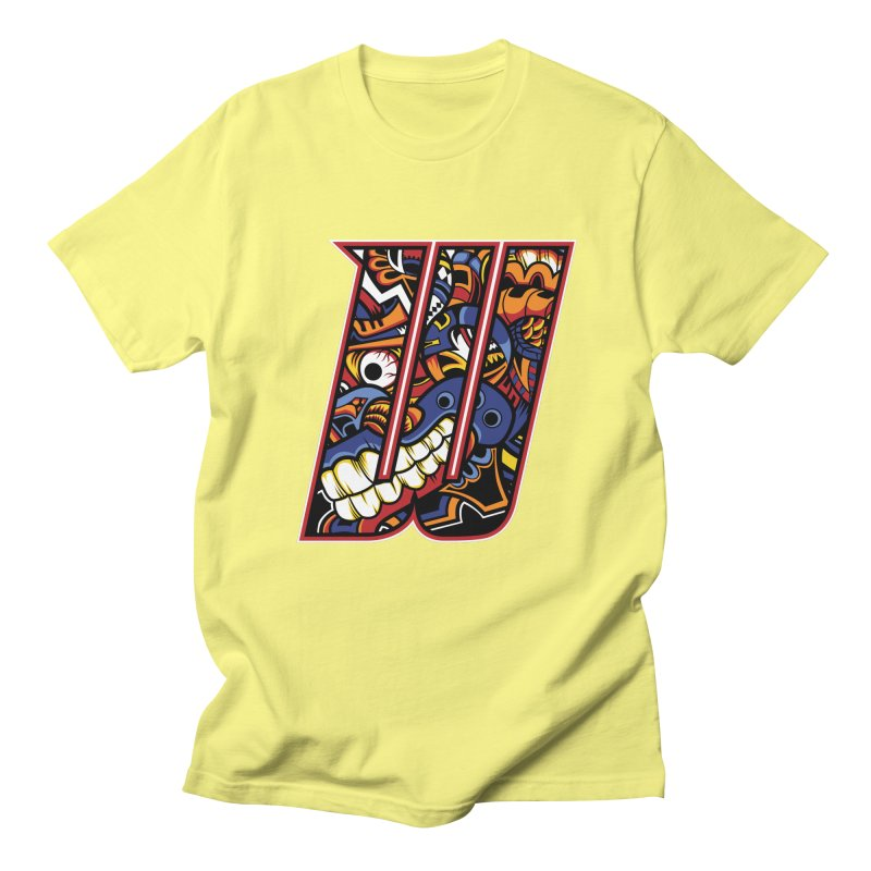 Crazy Face_W003 Men's Regular T-Shirt by Art of Yaky Artist Shop