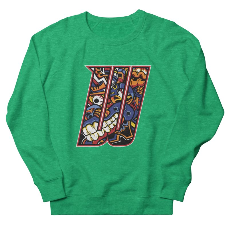 Crazy Face_W003 Women's Sweatshirt by Art of Yaky Artist Shop