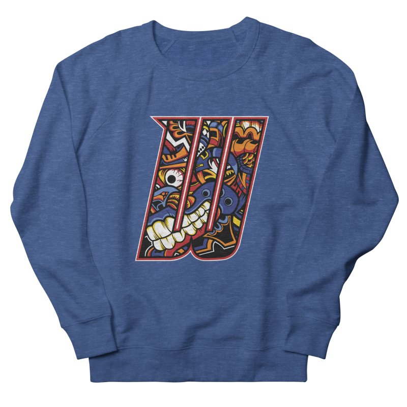 Crazy Face_W003 Women's French Terry Sweatshirt by Art of Yaky Artist Shop