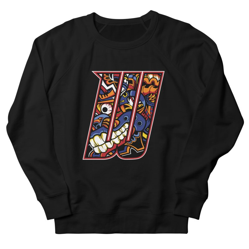 Crazy Face_W003 Men's French Terry Sweatshirt by Art of Yaky Artist Shop
