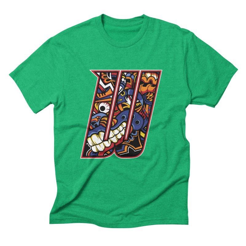 Crazy Face_W003 Men's Triblend T-Shirt by Art of Yaky Artist Shop
