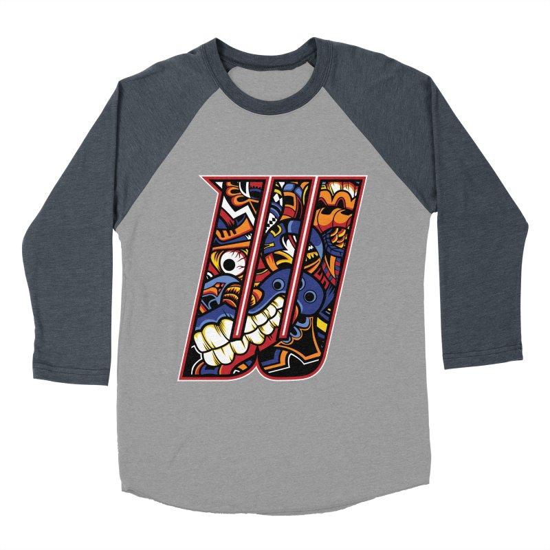 Crazy Face_W003 Women's Baseball Triblend Longsleeve T-Shirt by Art of Yaky Artist Shop