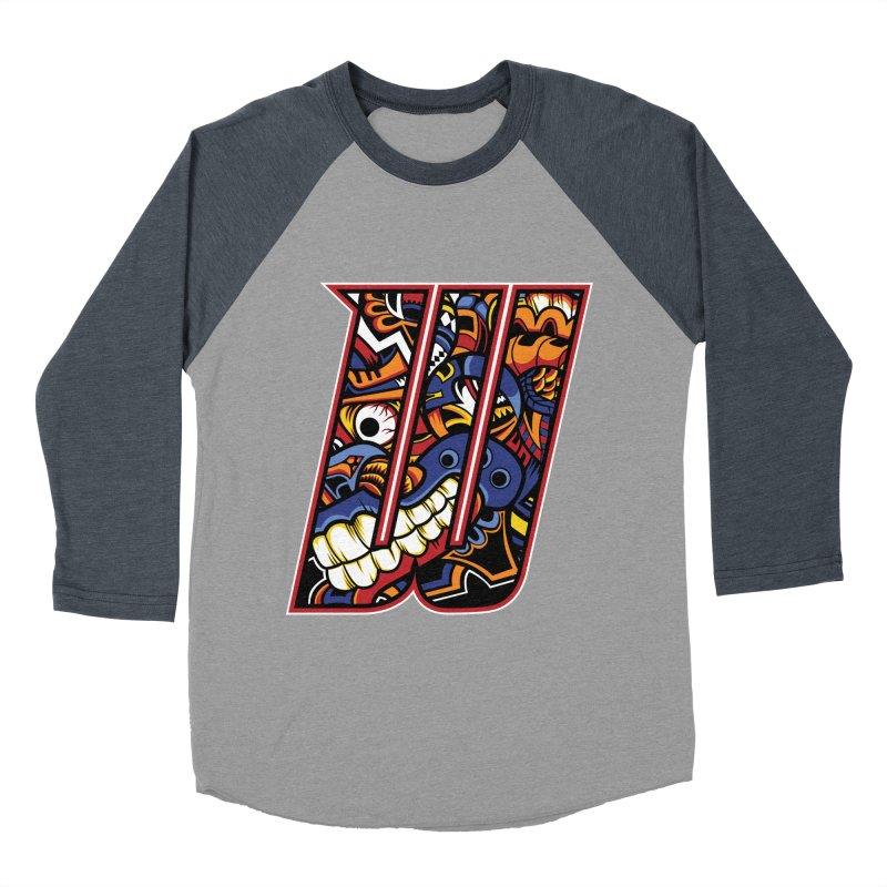 Crazy Face_W003 Men's Baseball Triblend Longsleeve T-Shirt by Art of Yaky Artist Shop