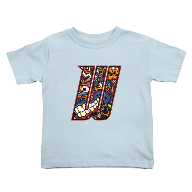 Crazy Face_W003 Kids Toddler T-Shirt by Art of Yaky Artist Shop