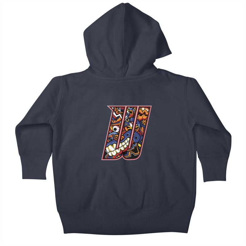 Crazy Face_W003 Kids Baby Zip-Up Hoody by Art of Yaky Artist Shop