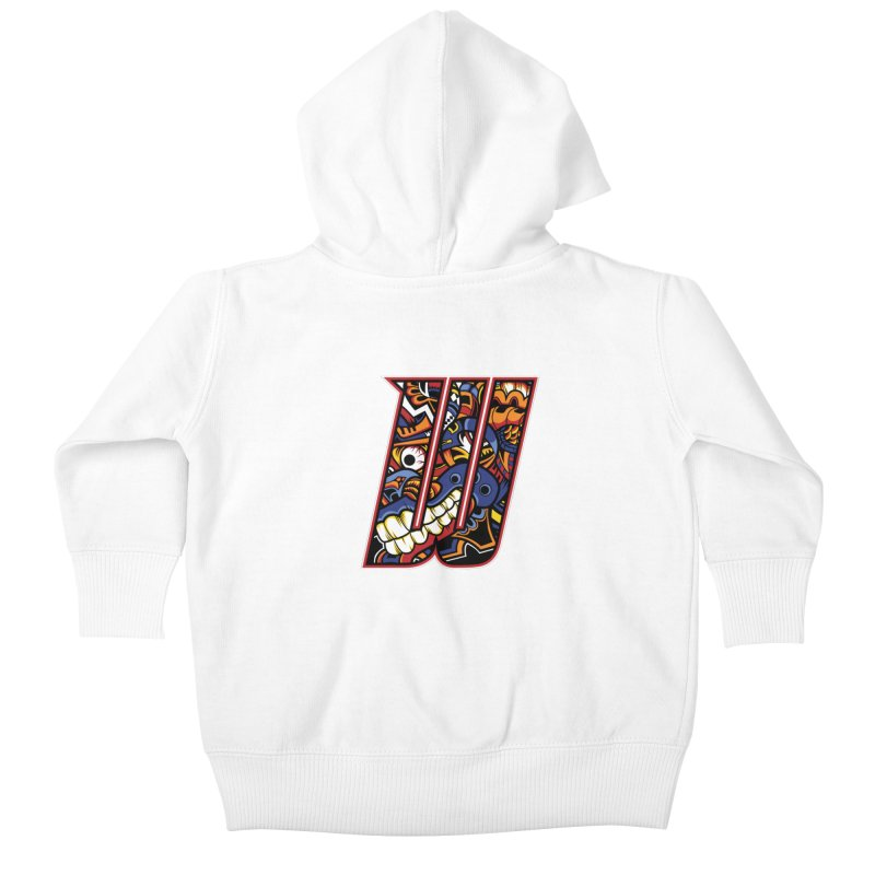 Crazy Face Alphabet (W) Kids Baby Zip-Up Hoody by Yaky's Customs