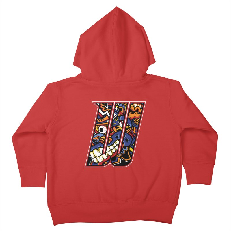 Crazy Face Alphabet (W) Kids Toddler Zip-Up Hoody by Yaky's Customs