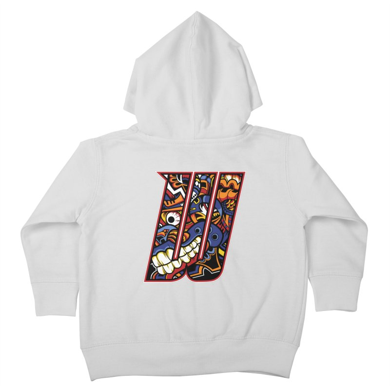 Crazy Face_W003 Kids Toddler Zip-Up Hoody by Art of Yaky Artist Shop