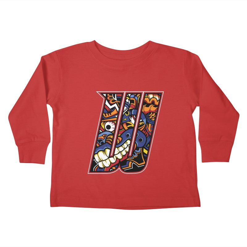 Crazy Face_W003 Kids Toddler Longsleeve T-Shirt by Art of Yaky Artist Shop