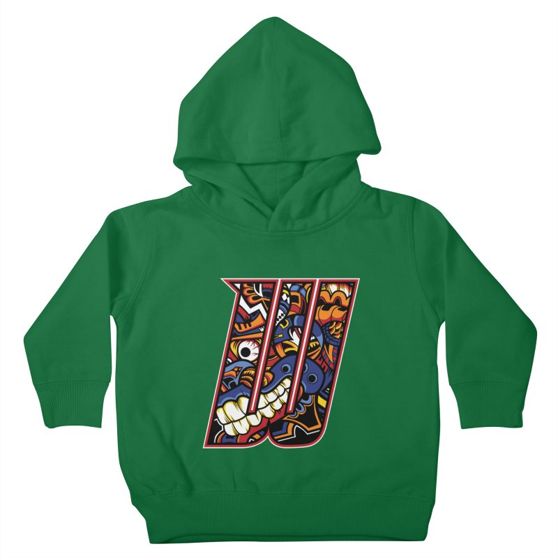 Crazy Face_W003 Kids Toddler Pullover Hoody by Art of Yaky Artist Shop