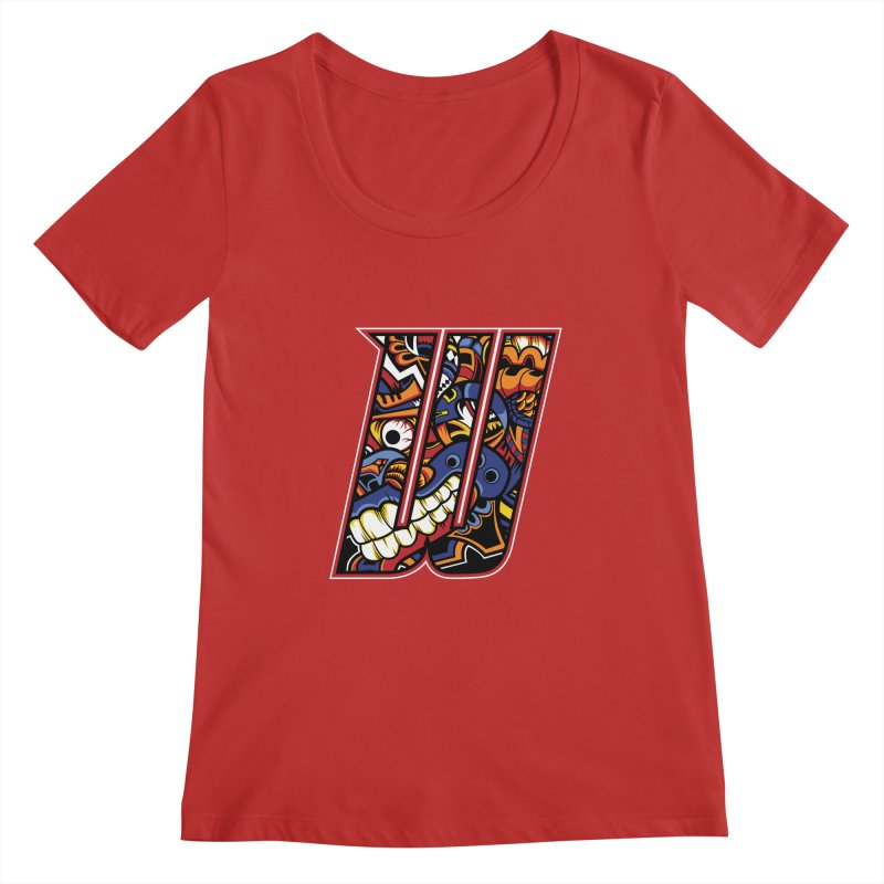 Crazy Face_W003 Women's Regular Scoop Neck by Art of Yaky Artist Shop