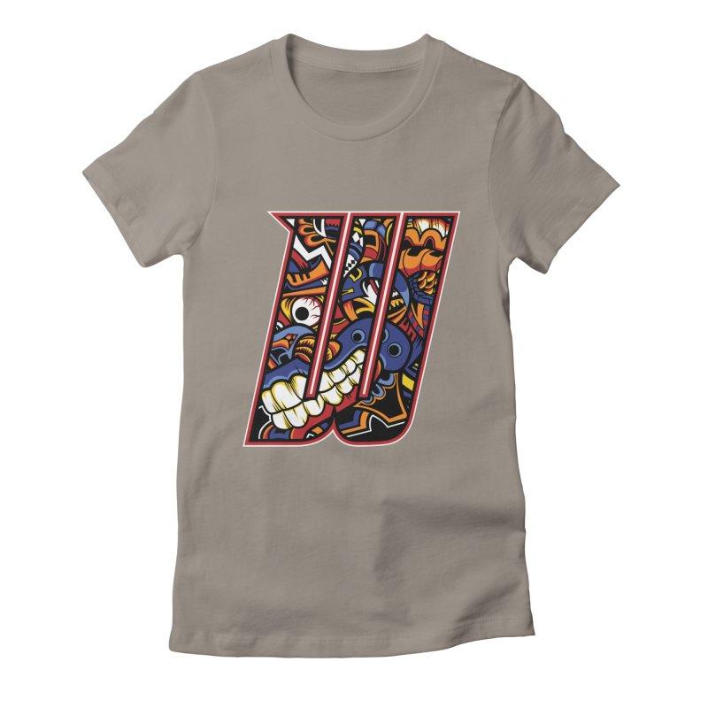 Crazy Face_W003 Women's T-Shirt by Art of Yaky Artist Shop