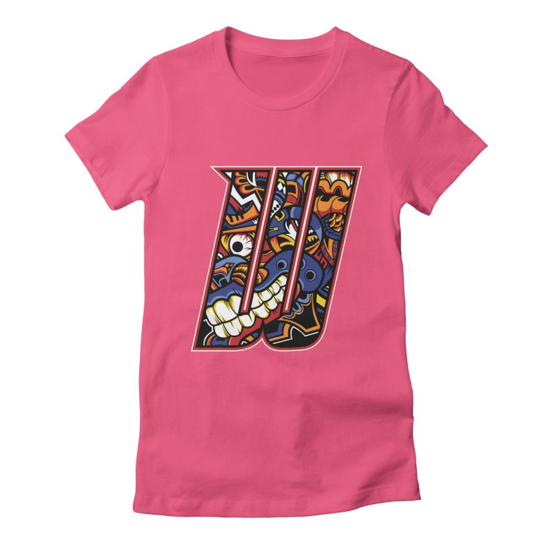 Crazy Face_W003 Women's T-Shirt by Art of Yaky Artist Shop