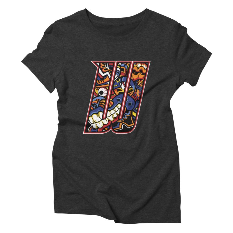 Crazy Face_W003 Women's Triblend T-Shirt by Art of Yaky Artist Shop