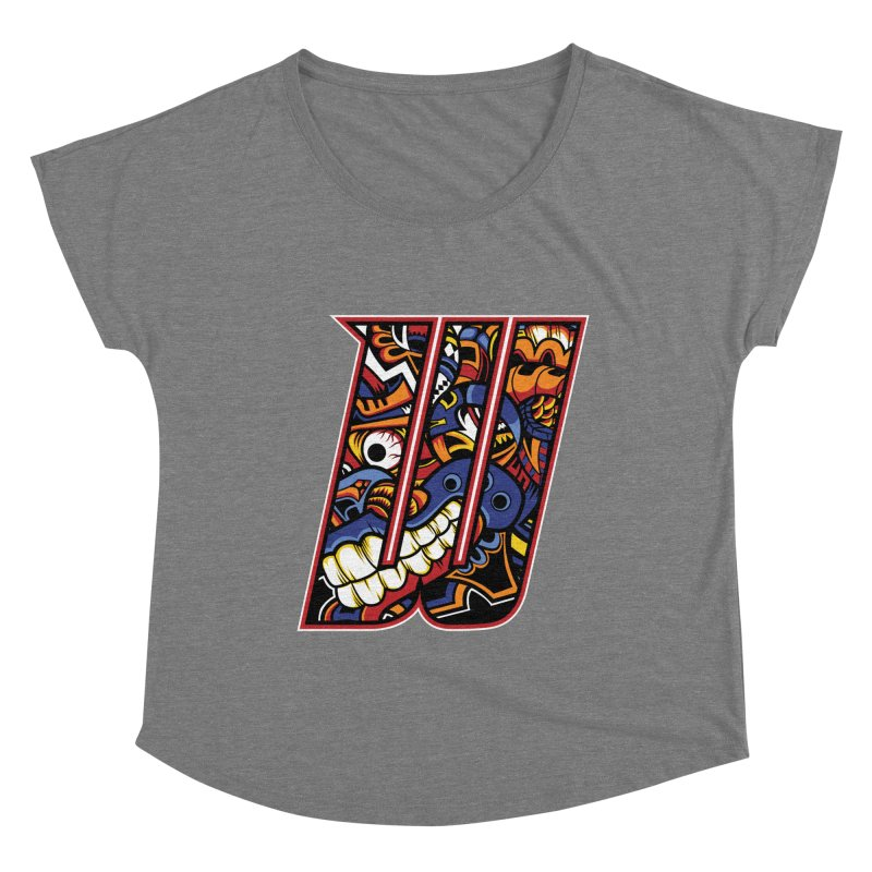 Crazy Face Alphabet (W) Women's Scoop Neck by Yaky's Customs