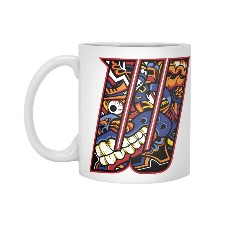 Crazy Face_W003 Accessories Mug by Art of Yaky Artist Shop