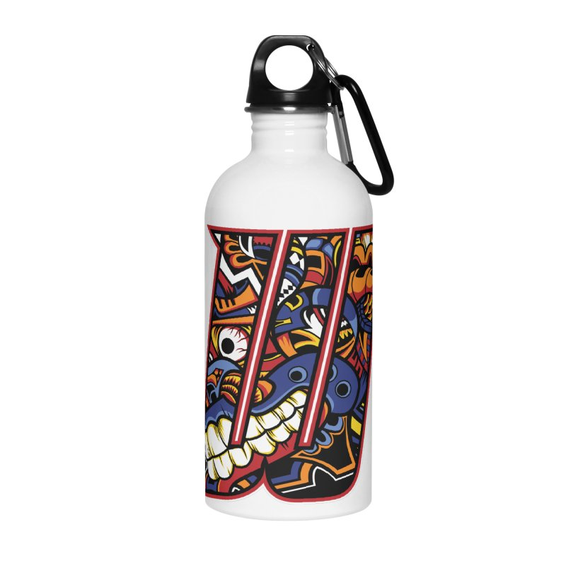 Crazy Face_W003 Accessories Water Bottle by Art of Yaky Artist Shop