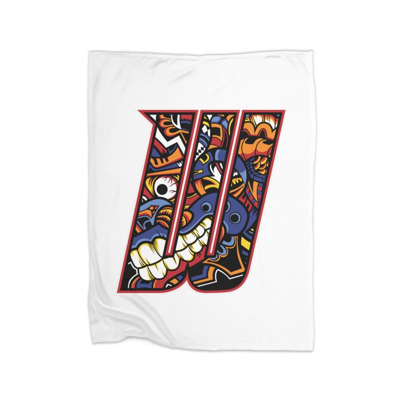 Crazy Face Alphabet (W) Home Blanket by Yaky's Customs
