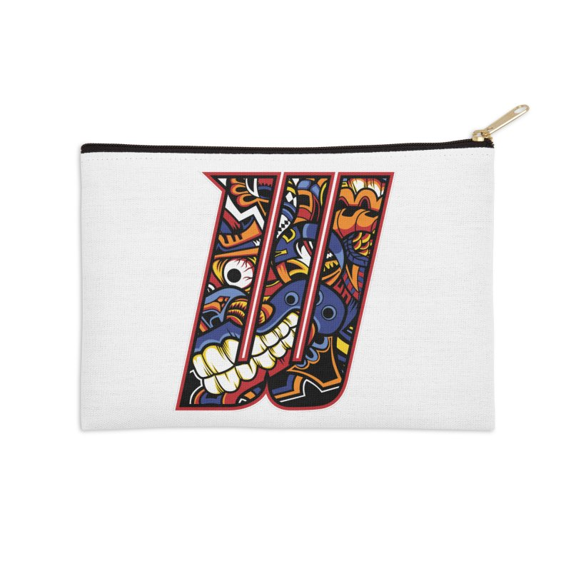 Crazy Face_W003 Accessories Zip Pouch by Art of Yaky Artist Shop