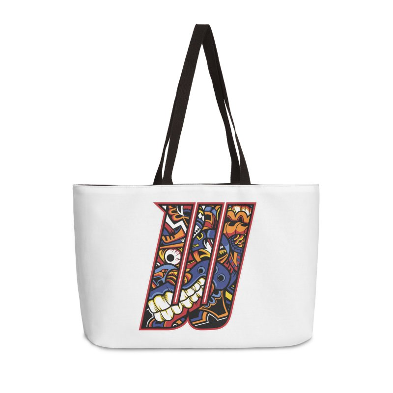 Crazy Face_W003 Accessories Weekender Bag Bag by Art of Yaky Artist Shop