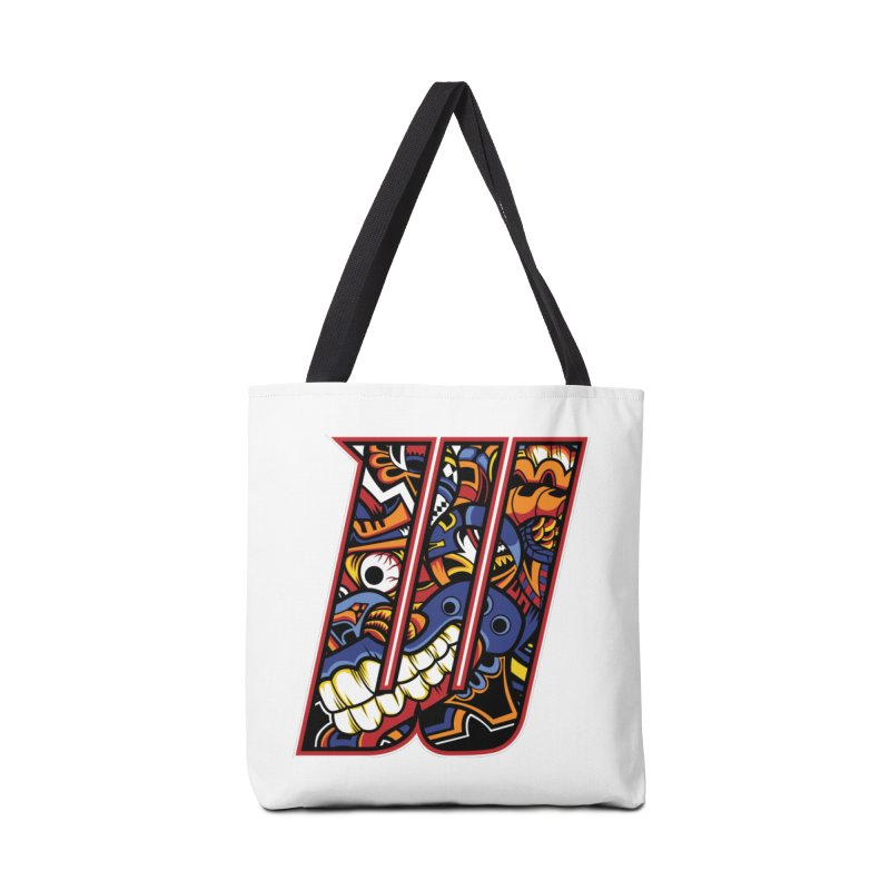 Crazy Face_W003 Accessories Tote Bag Bag by Art of Yaky Artist Shop