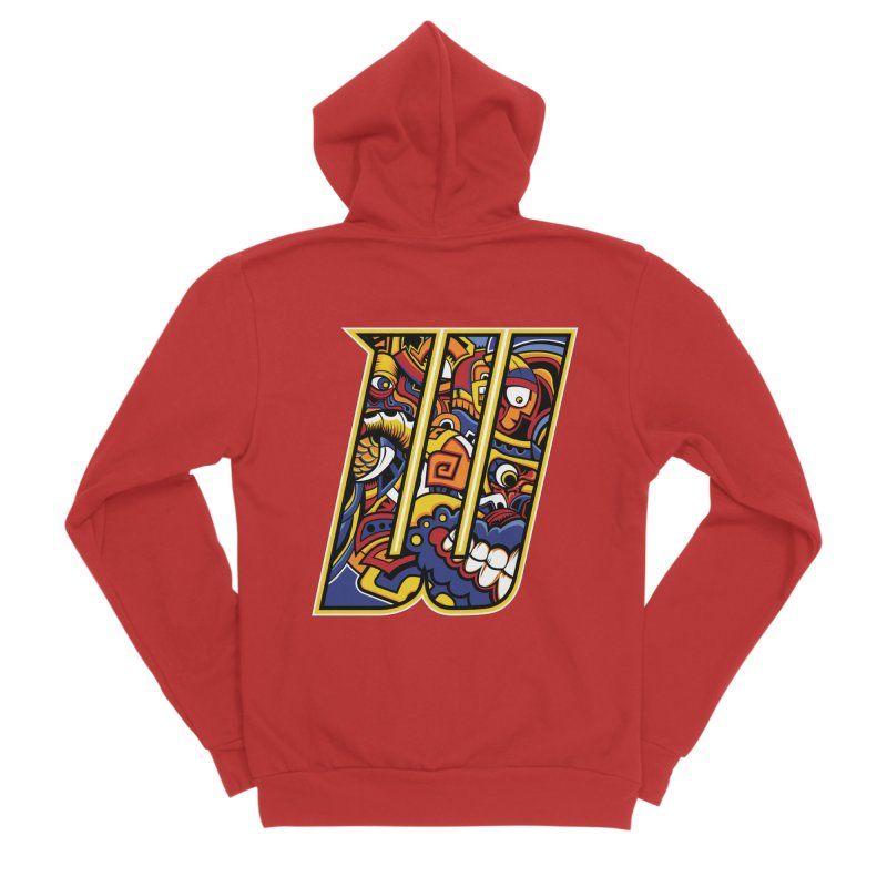 Crazy Face_W004 Men's Zip-Up Hoody by Art of Yaky Artist Shop