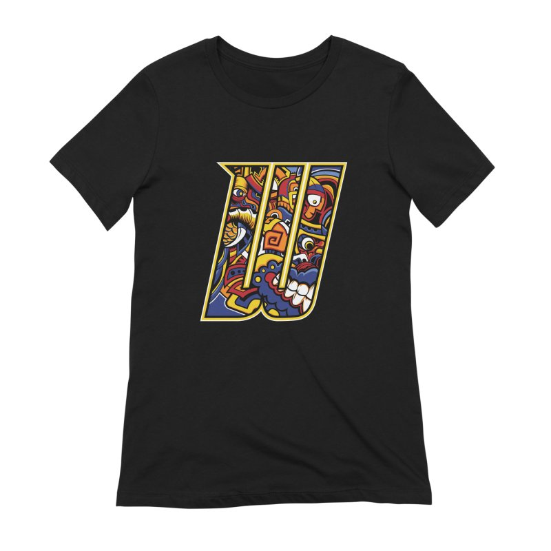Crazy Face_W004 Women's Extra Soft T-Shirt by Art of Yaky Artist Shop