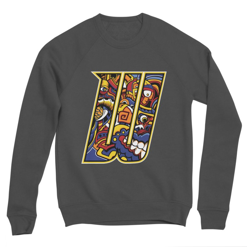 Crazy Face_W004 Women's Sponge Fleece Sweatshirt by Art of Yaky Artist Shop