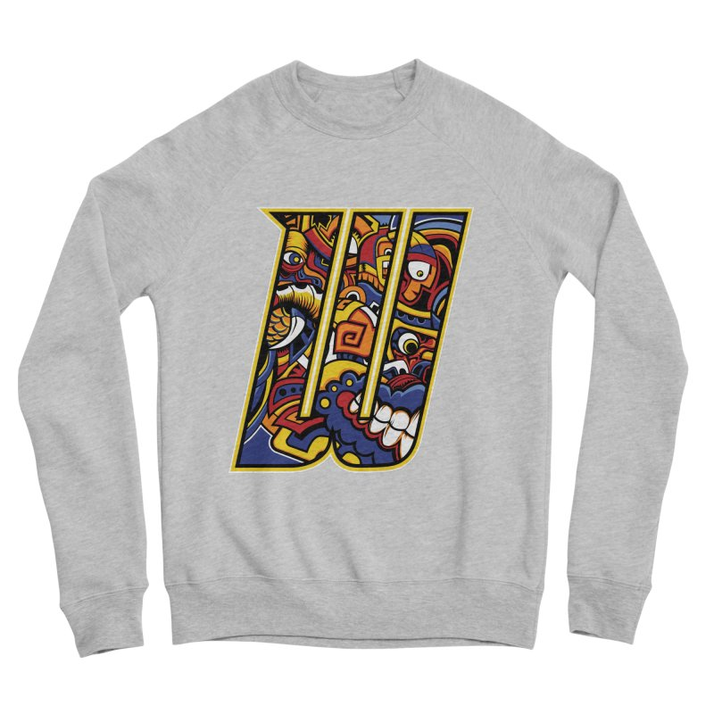 Crazy Face_W004 Men's Sponge Fleece Sweatshirt by Art of Yaky Artist Shop