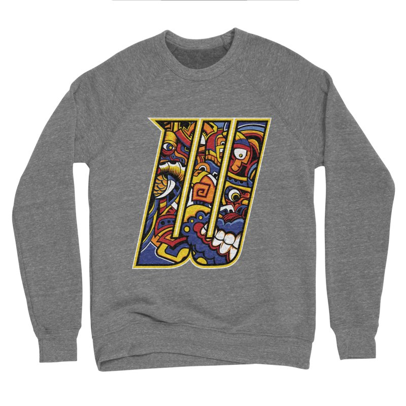 Crazy Face_W004 Men's Sponge Fleece Sweatshirt by Art of Yaky Artist Shop