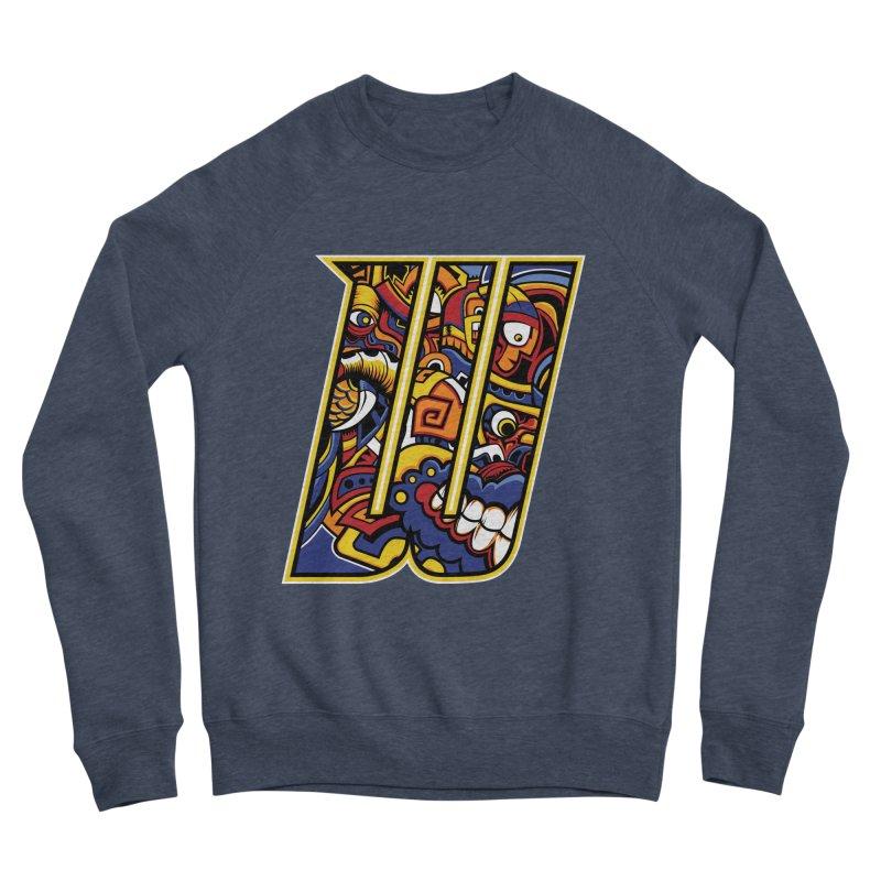 Crazy Face_W004 Women's Sponge Fleece Sweatshirt by Art of Yaky Artist Shop