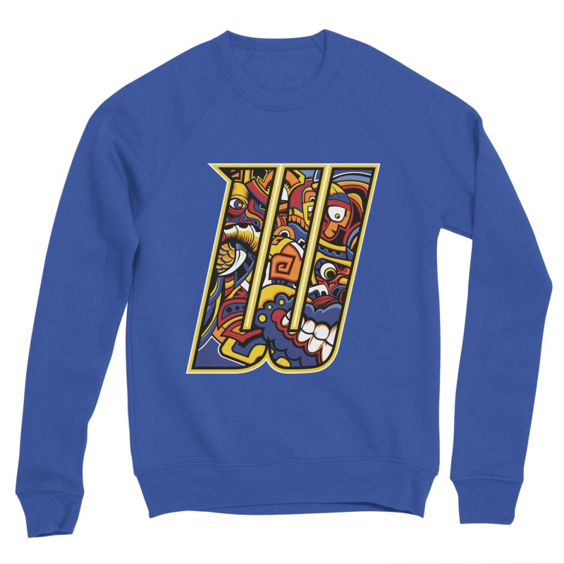 Crazy Face Alphabet (W) Men's Sweatshirt by Yaky's Customs
