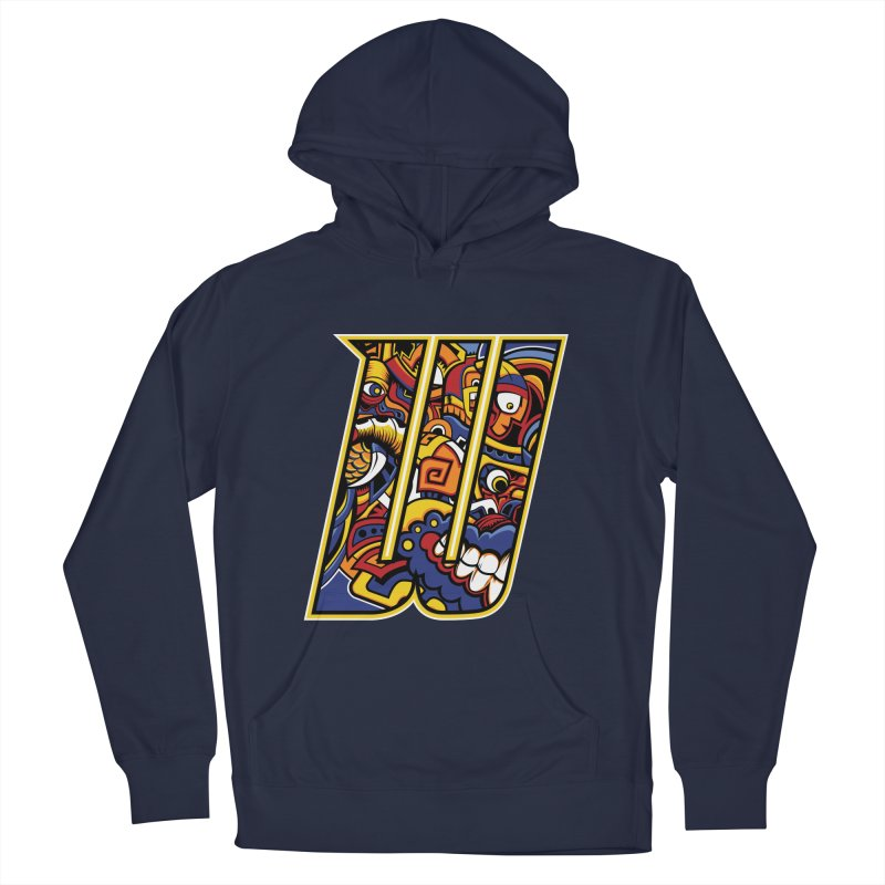 Crazy Face_W004 Men's Pullover Hoody by Art of Yaky Artist Shop