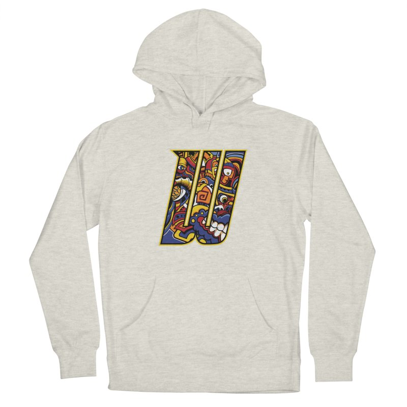 Crazy Face_W004 Women's French Terry Pullover Hoody by Art of Yaky Artist Shop