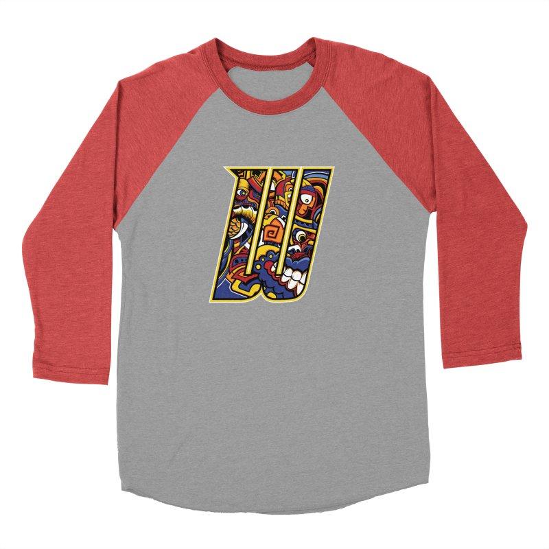 Crazy Face_W004 Women's Baseball Triblend Longsleeve T-Shirt by Art of Yaky Artist Shop