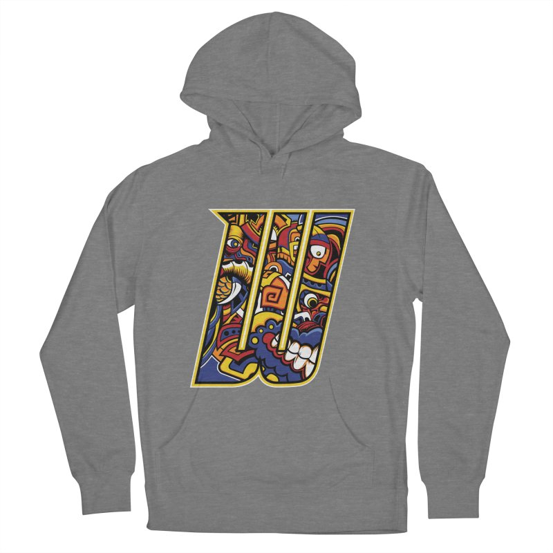 Crazy Face_W004 Women's Pullover Hoody by Art of Yaky Artist Shop
