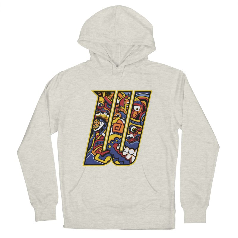 Crazy Face_W004 Men's French Terry Pullover Hoody by Art of Yaky Artist Shop