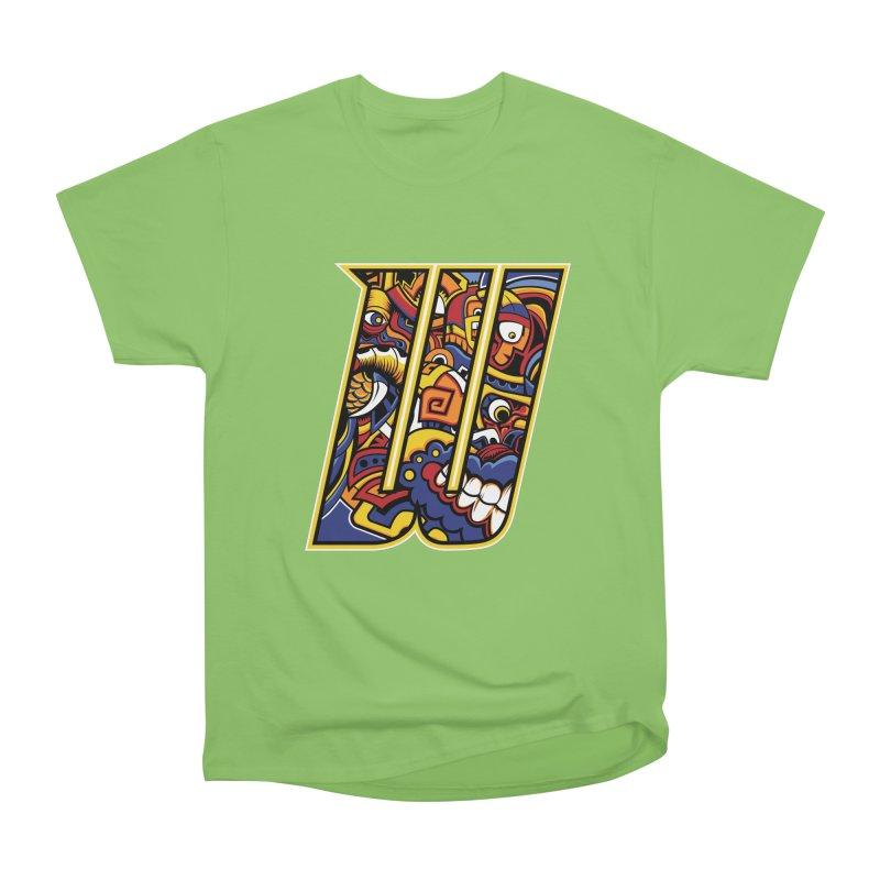 Crazy Face_W004 Women's Heavyweight Unisex T-Shirt by Art of Yaky Artist Shop